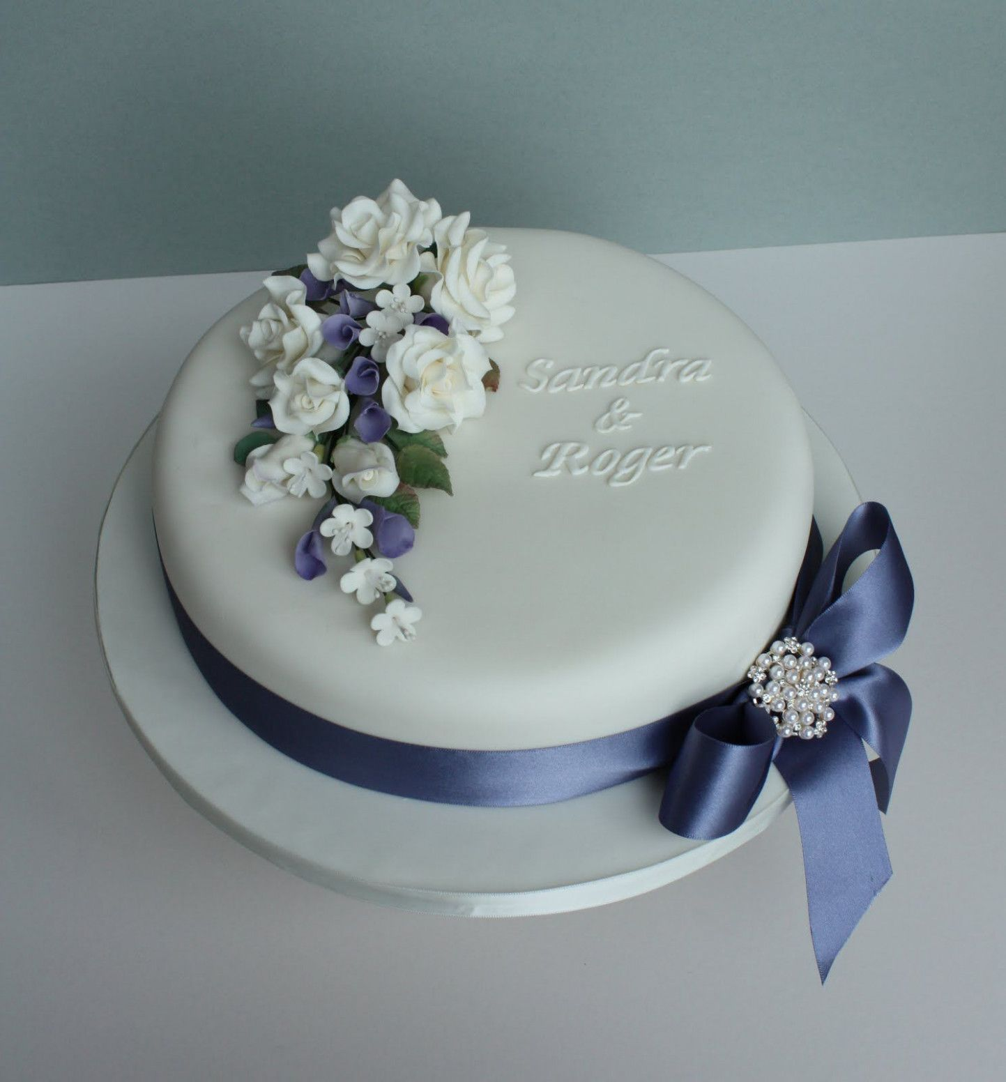 Wedding Cakes Simple One Layer Cake Name Birthday Cake Pictures