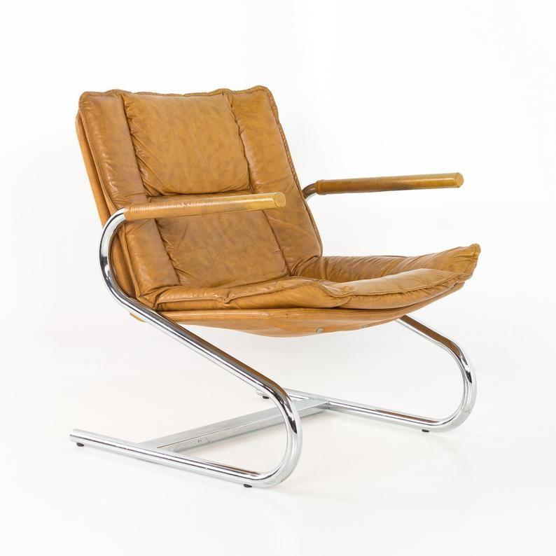 Mid Century Modern Italian Chrome Z Lounge Chair Mcm In 2020