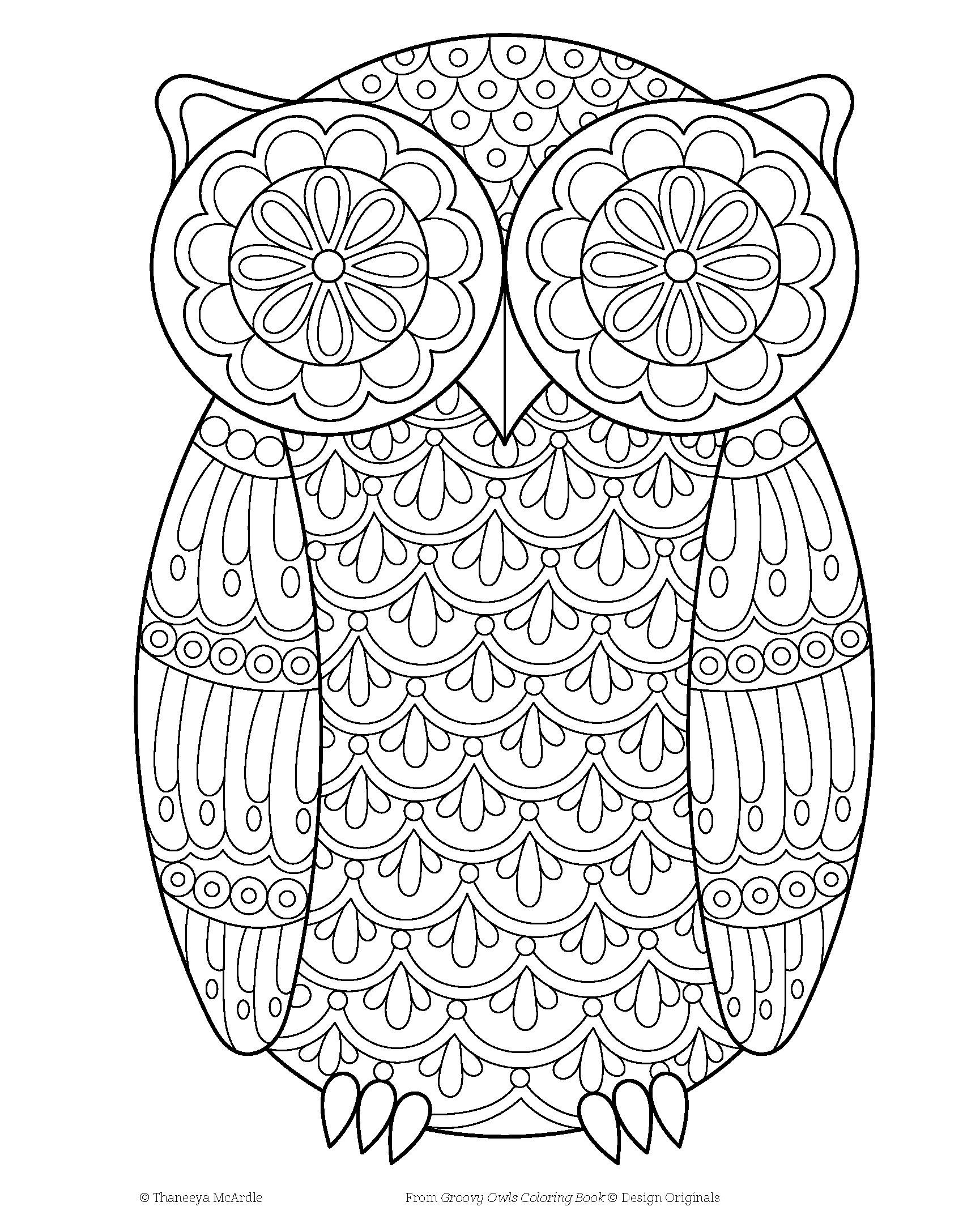 Amazon Com Groovy Owls Coloring Book Coloring Is Fun Design Originals 9781497202078 Thaneeya Mcardle Owl Coloring Pages Coloring Books Coloring Pages
