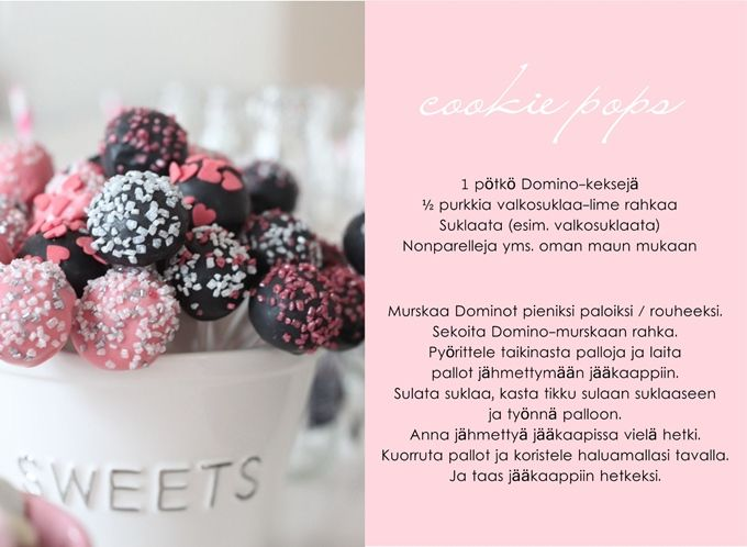 cookie pops | Vaaleanpunainen hirsitalo