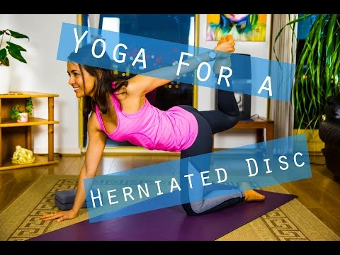 full length yoga class for a herniated disc  yoga with
