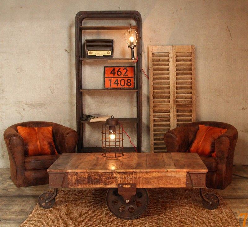BARAK\u00277, mobilier esprit industriel Industrial, Bureaus and Tables