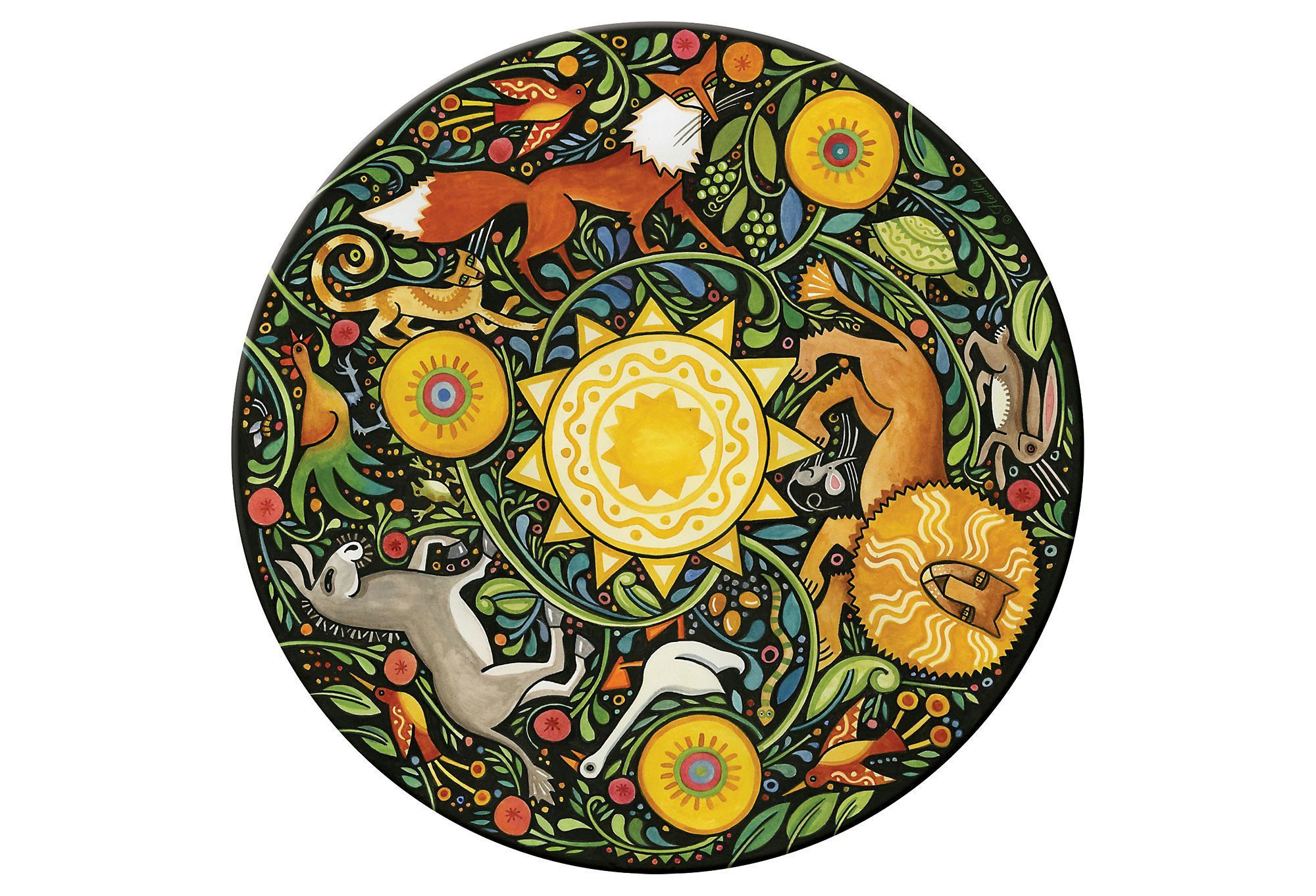 S 4 Aesop S Fables Round Place Mats
