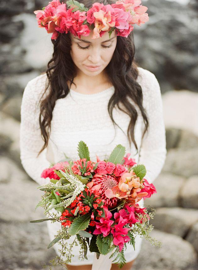 Tropical Hawaiian Bridal Inspiration Shoot | Bridal musings, Wedding ...