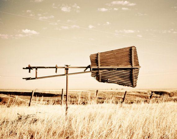 weather vane prairie whimsical neutral landscape by debbiesfineart, $35.00