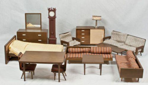 Very Rare Vintage 1950 S Mattel Doll House Furniture Wood Barbie