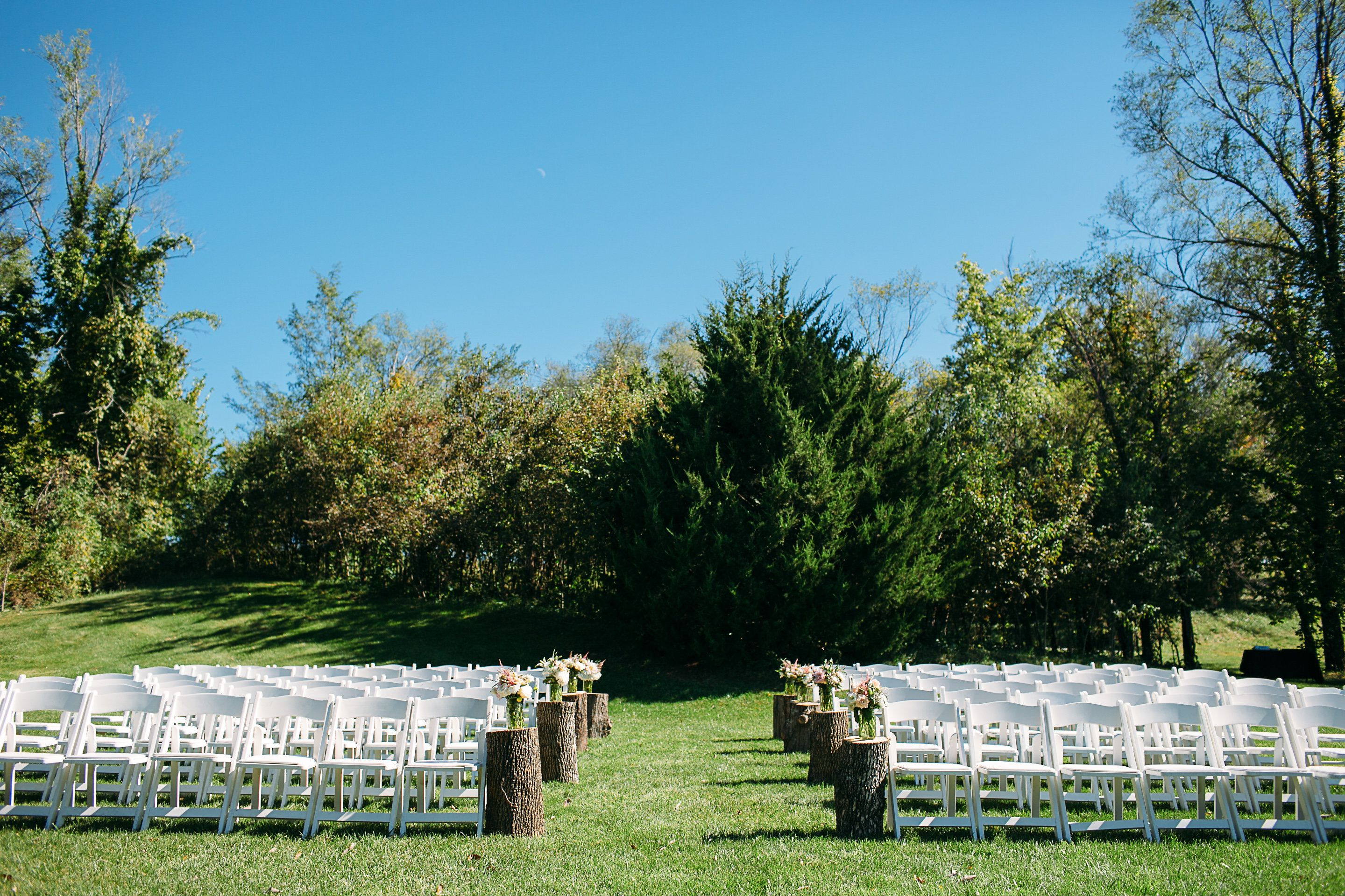 Here is the view that the bride and groom get, so