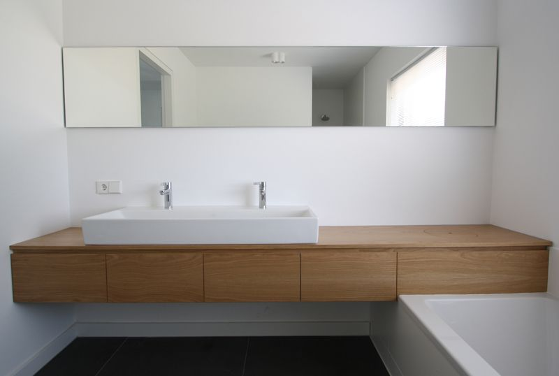 Eiken Werkblad Badkamer : Eiken badkamermeubel plugers vercoulen bathrooms residential