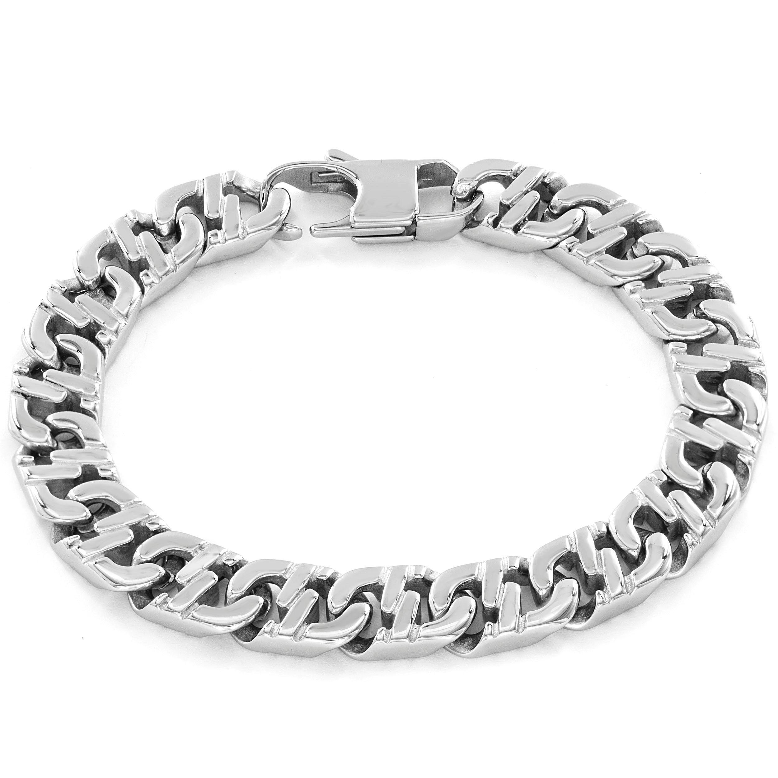 Stainless steel menus crucible mariner link bracelet west coast