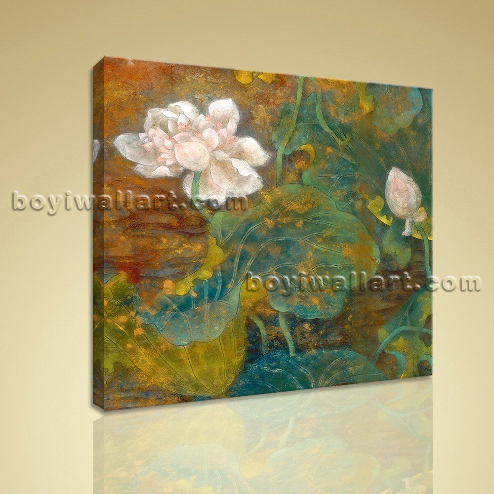 Contemporary abstract floral painting hd print canvas wall art water