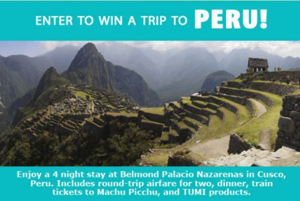 Peru Giveaway: Win a Machu Picchu Vacation Package!