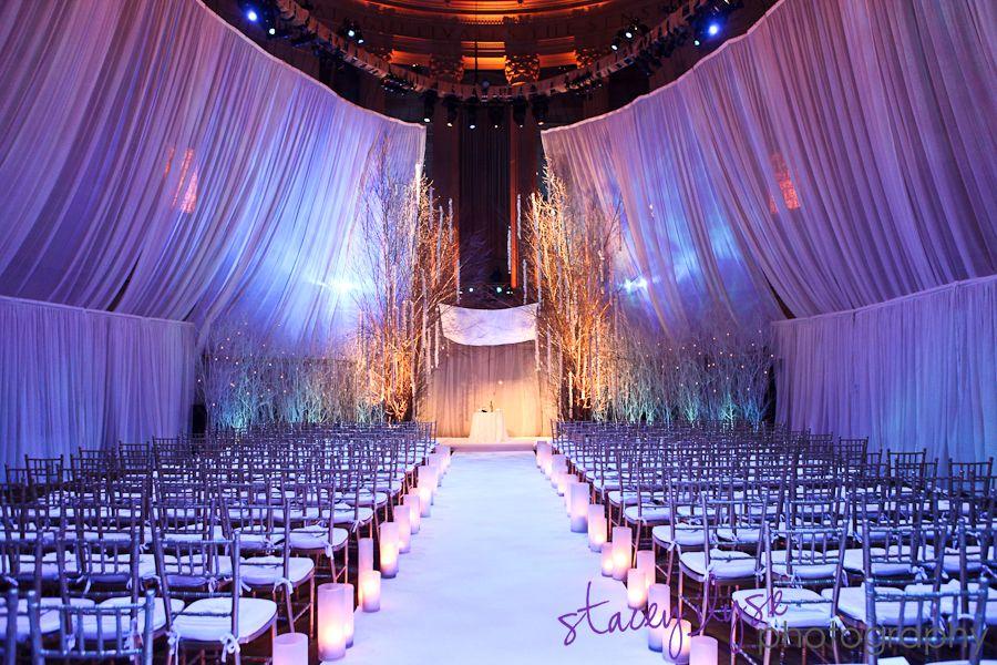 Chandelier Event Winter Wonderland Wedding Gotham Hall New York City