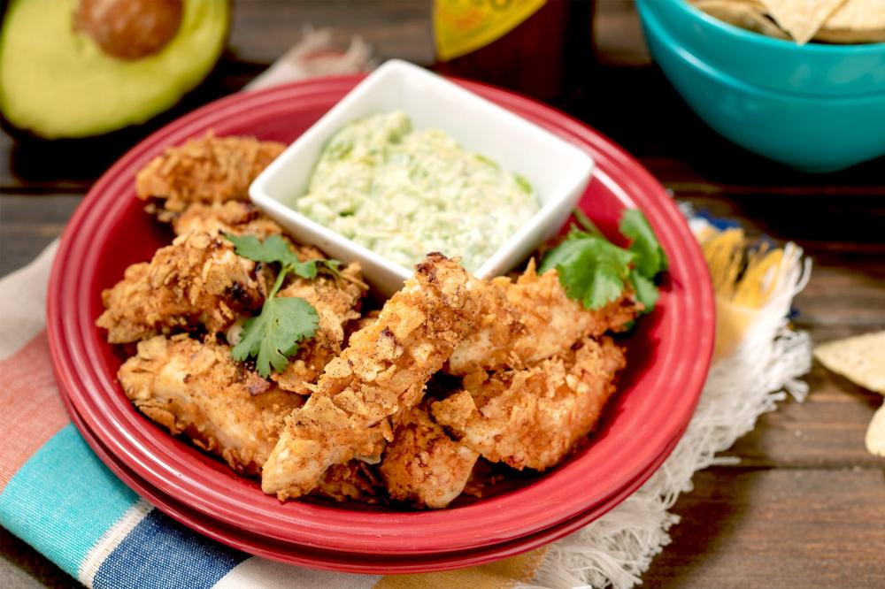 AirFryer Mexican Chicken Tenders & Avocado Sauce Recipe