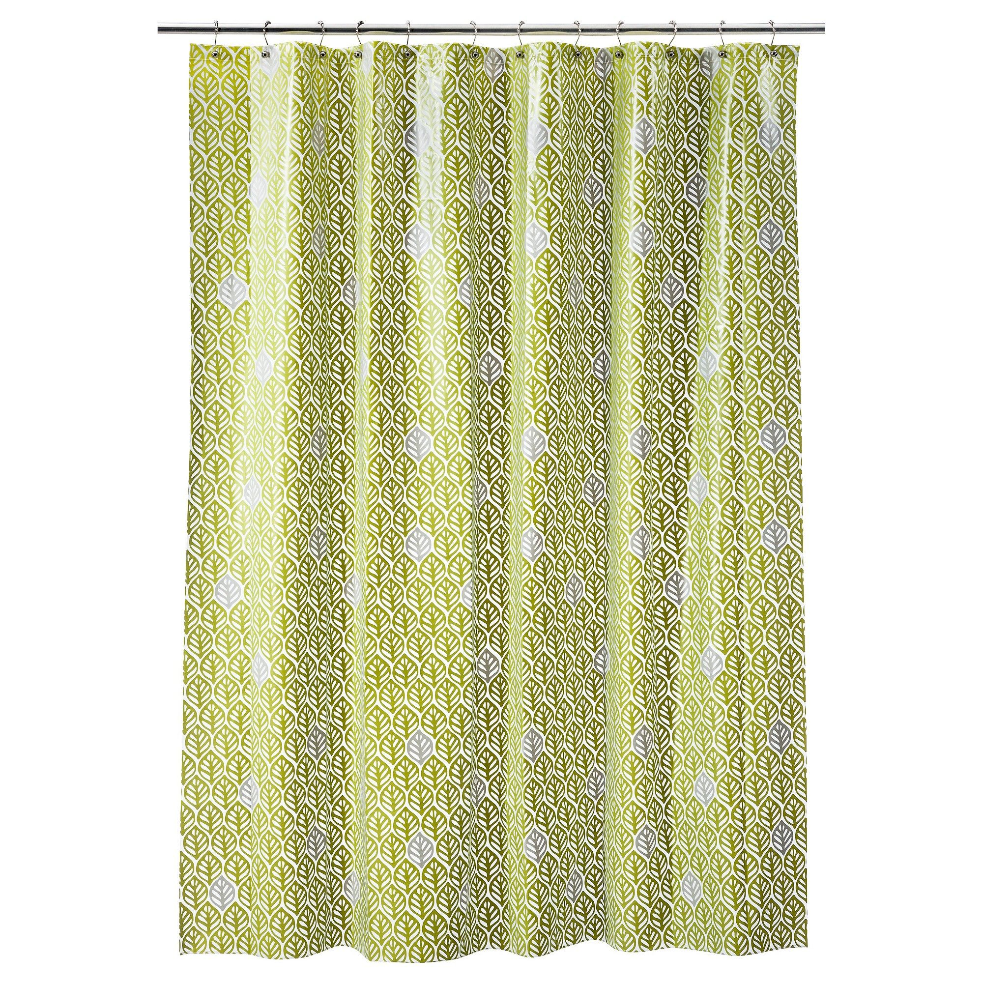 Leaf geometric shower curtain green room essentials products
