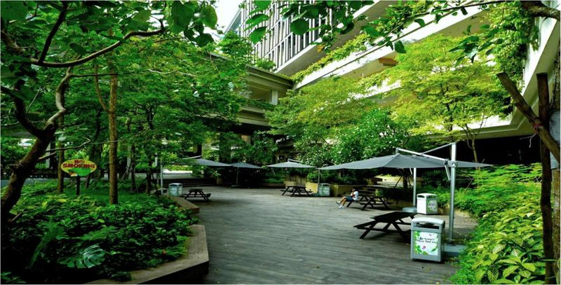 新加坡邱德拔医院花园中的医院,医院中的花园设计前沿九地国际景观规划设计研究院 景观设计,城市规划,城市