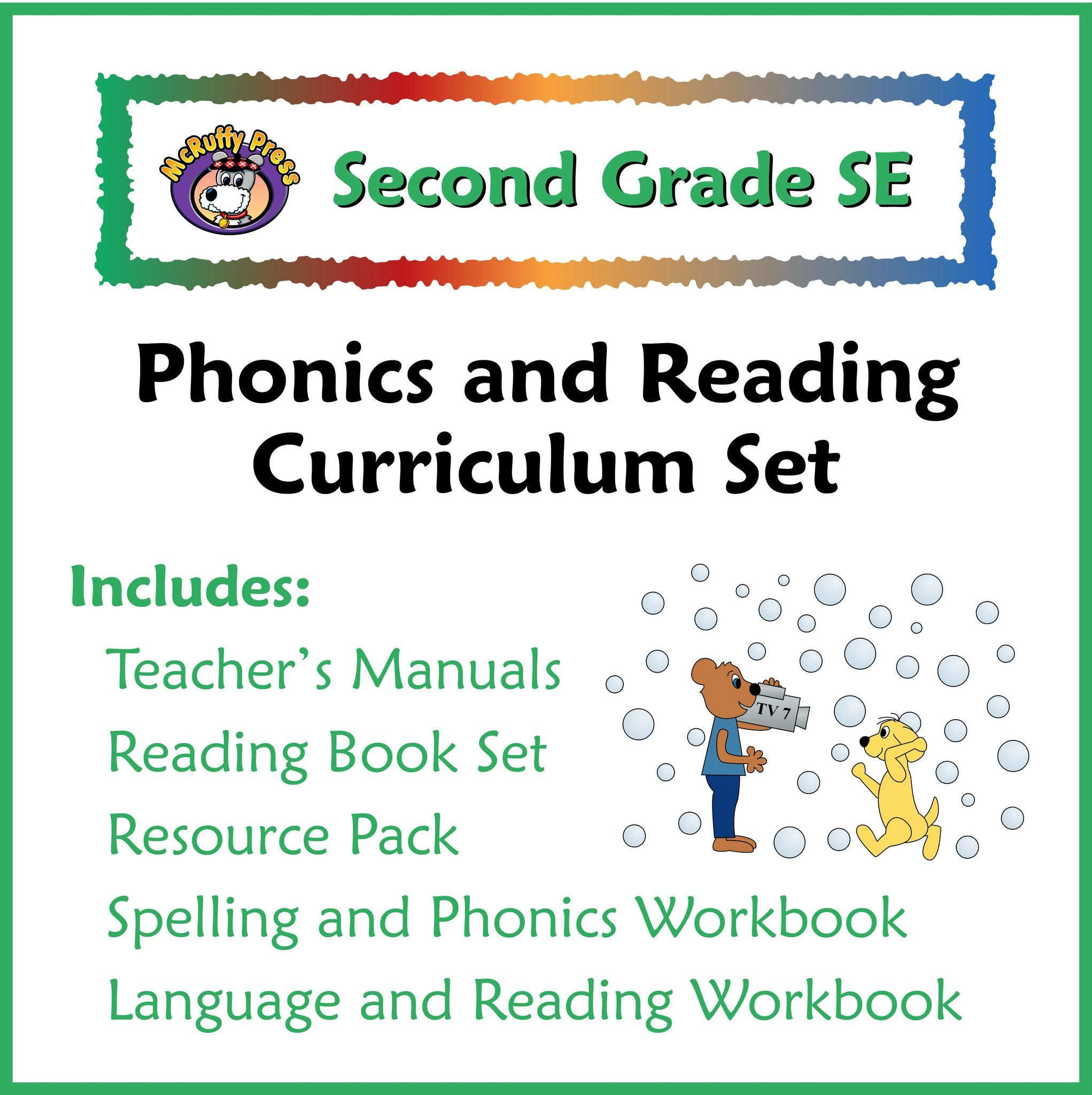 Second grade se phonics and reading curriculum products