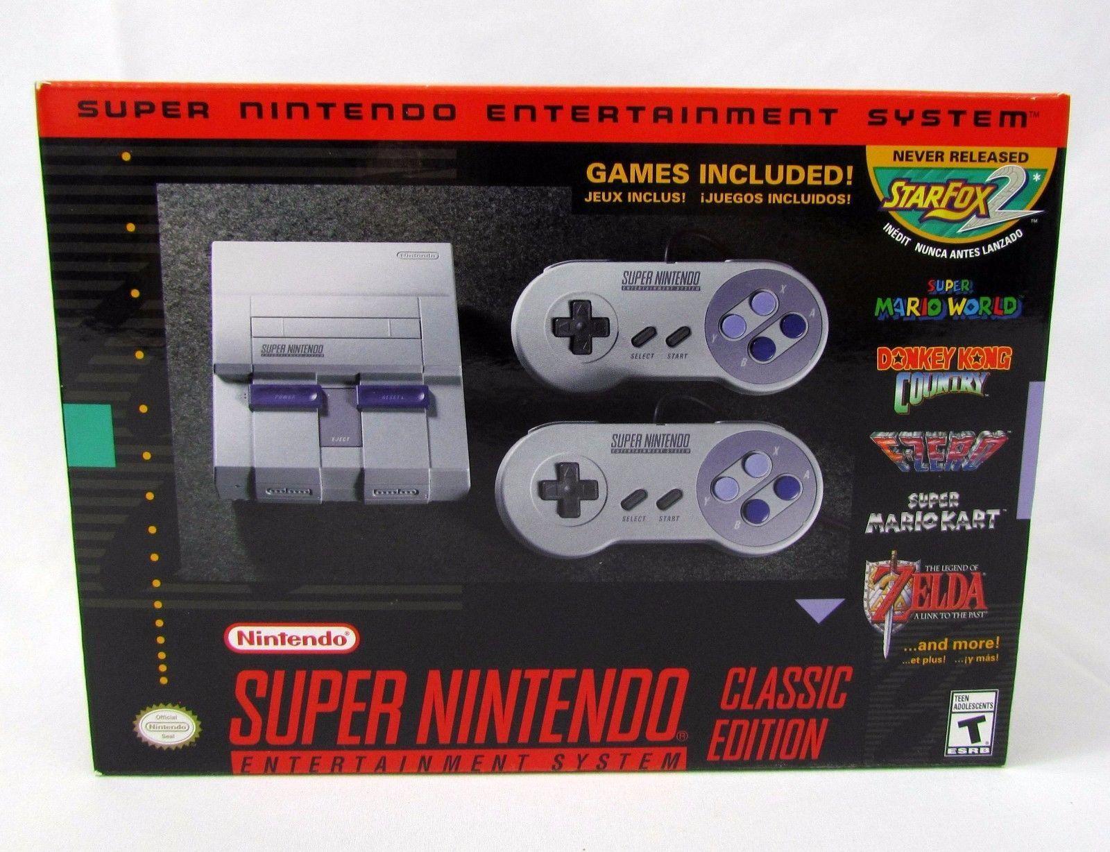 Videogames Gamers Nintendo Classic Mini Super Nintendo Snes