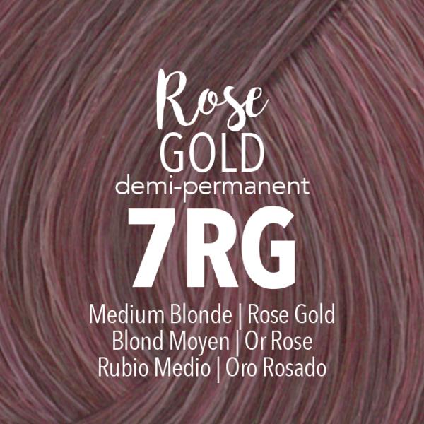 Demi Permanent Rose Gold Demi Permanent Permanent Hair Color Hair Color