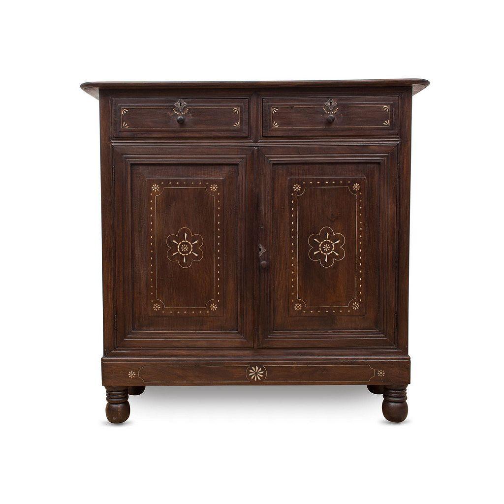 Comoda With Bone Inlay Antique Furniture # Muebles Pampanga