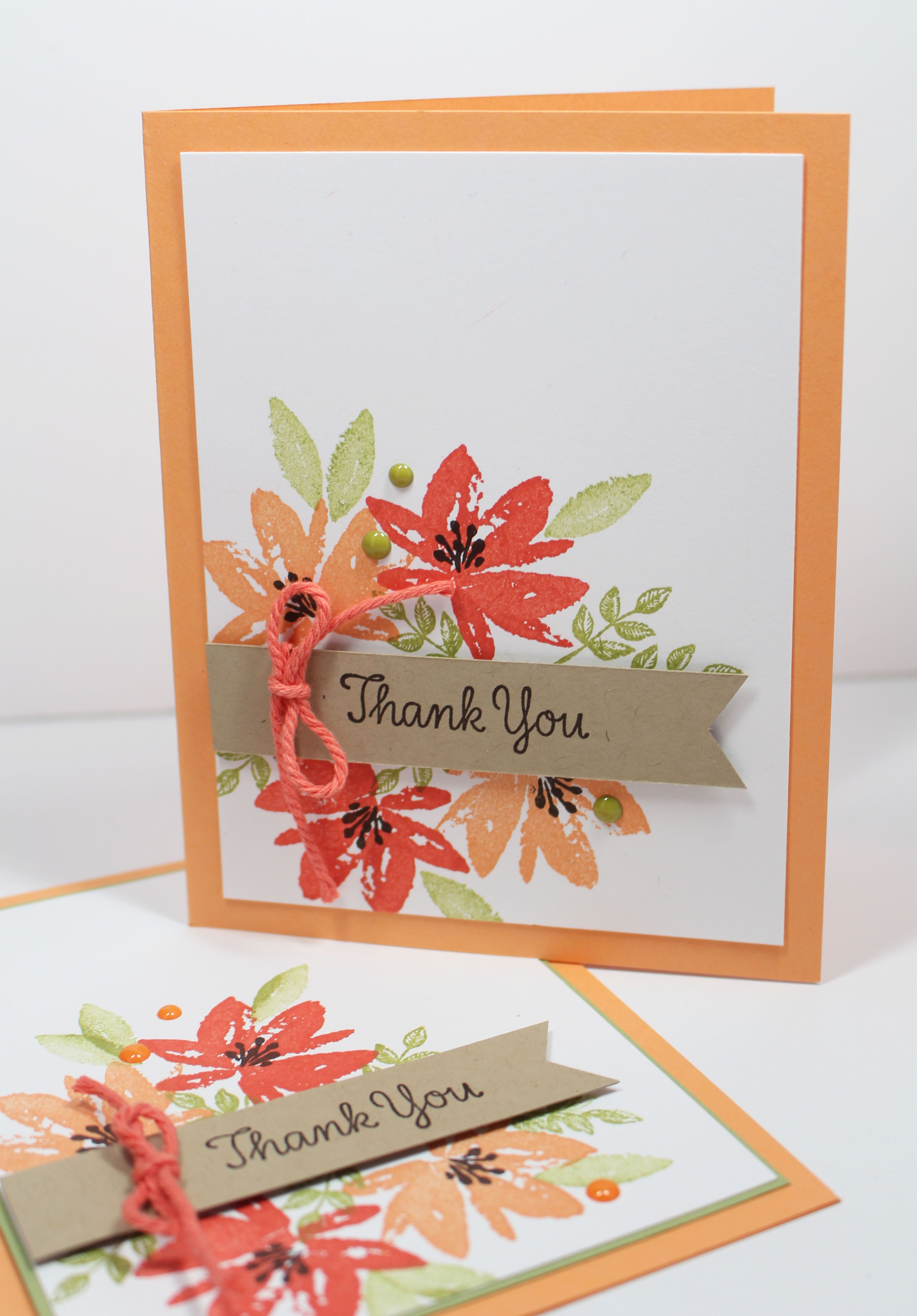 How To Make A Easy Thank You Card Video Tutorial With Stampin Up