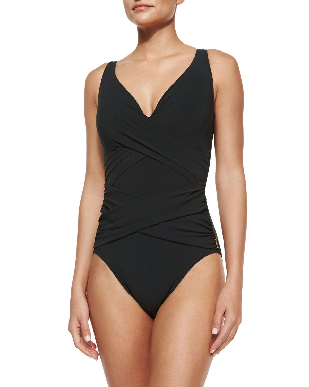 Serena Solid One-Piece Swimsuit 9764f638d7