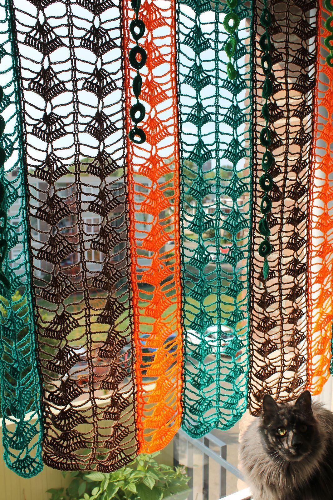 Patterns For Kitchen Curtains Colorful Curtain By Ioana Van Deurzen Free Crochet Diagram