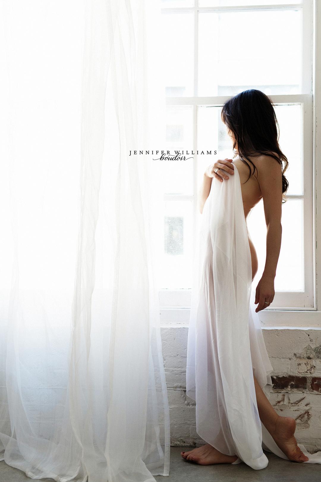 boudoir wedding photo