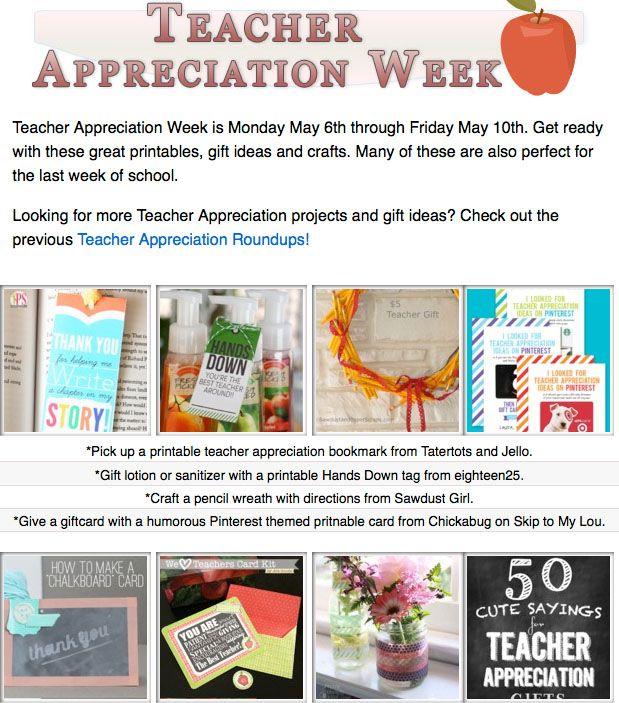 16 diy teacher appreciation projects! DIY gifts, printables and projects for teacher appreciation or the last day of school!