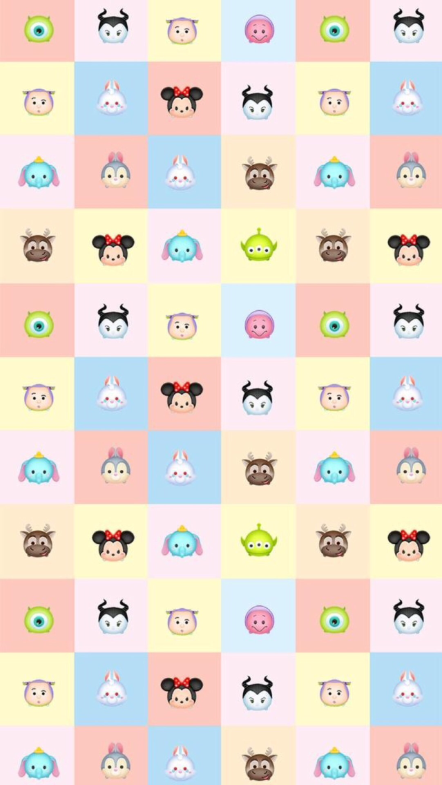 Tsum Tsum Disney Wallpaper Rainbow