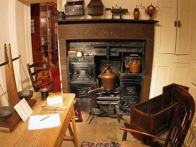 Kitchen Parsonage Haworth, Yorkshire. House of the Bronte family