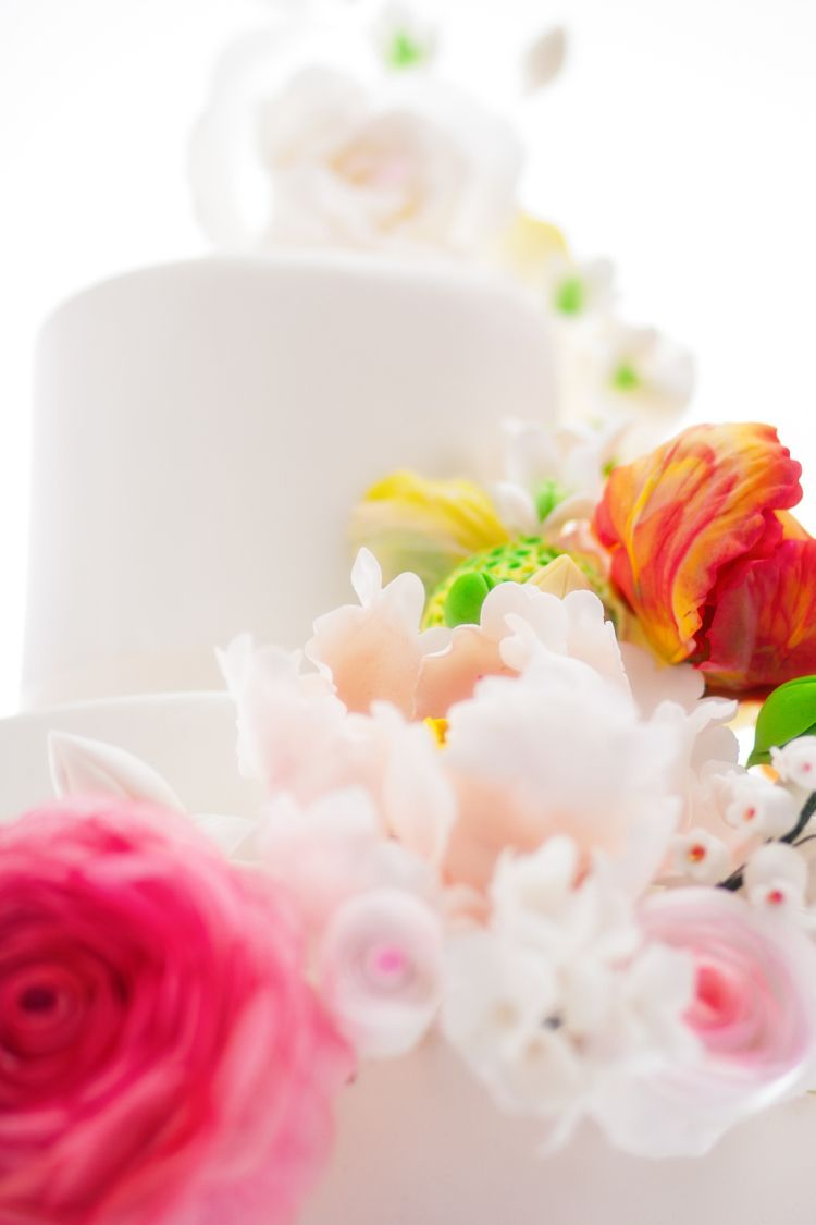 My wedding cake sugar flowers