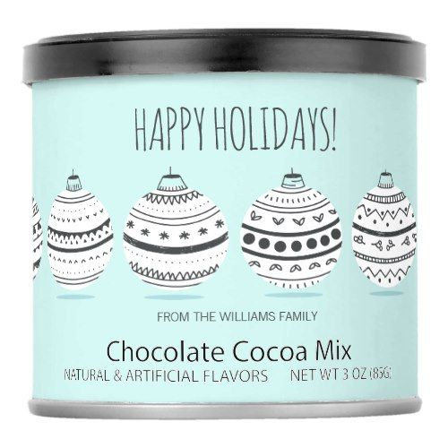 Christmas Ornaments Hot Chocolate Drink Mix    Christmas Ornaments Hot Chocolate Drink Mix