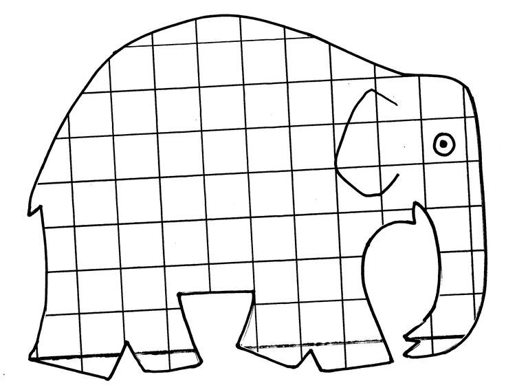 Elmar Elefant Ausmalbild …   Pinteres…
