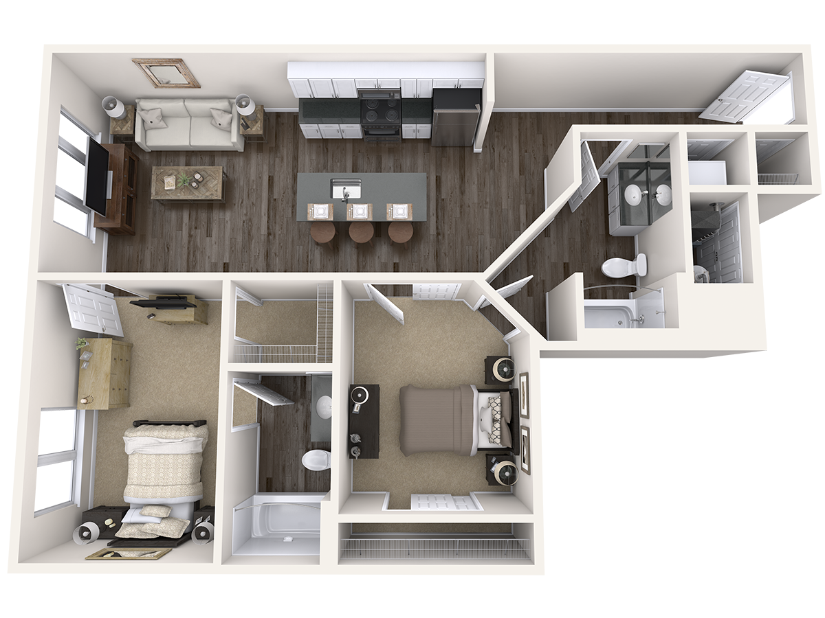 Two Bedroom Floor Plan Arena Place Apartments Grand Rapids Mi Studio Apartment Floor Plans Apartment Floor Plans Apartment Layout