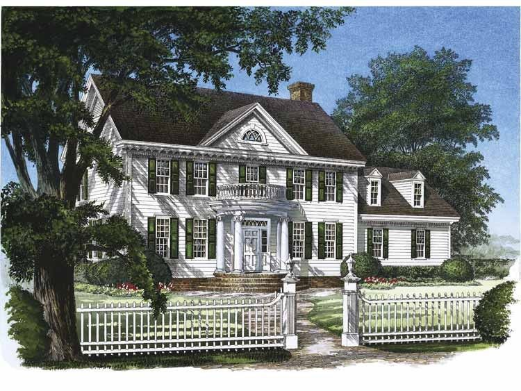 Southern Style House Plan 3 Beds 2 5 Baths 2214 Sq Ft Plan 137 129 Colonial House Colonial House Plans House Plans