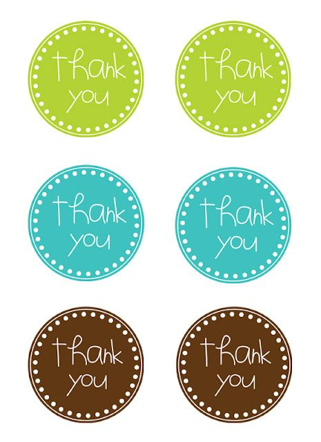 Thank You (Free Printable Tags) | Gifts | Pinterest