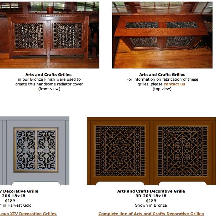 Radiator Grills As Cabinet Doors