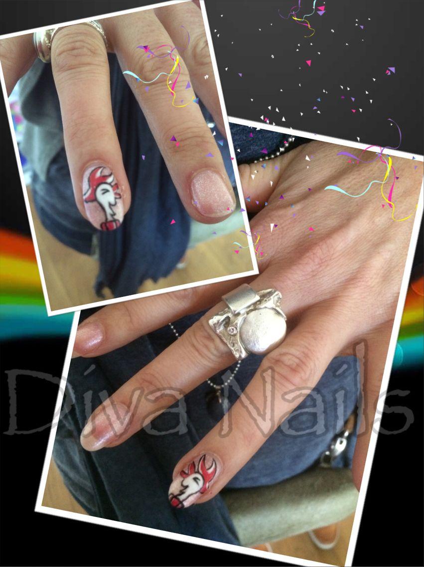 Tullepetaon carnaval nagels nail art nagelstudio Diva Nails ...