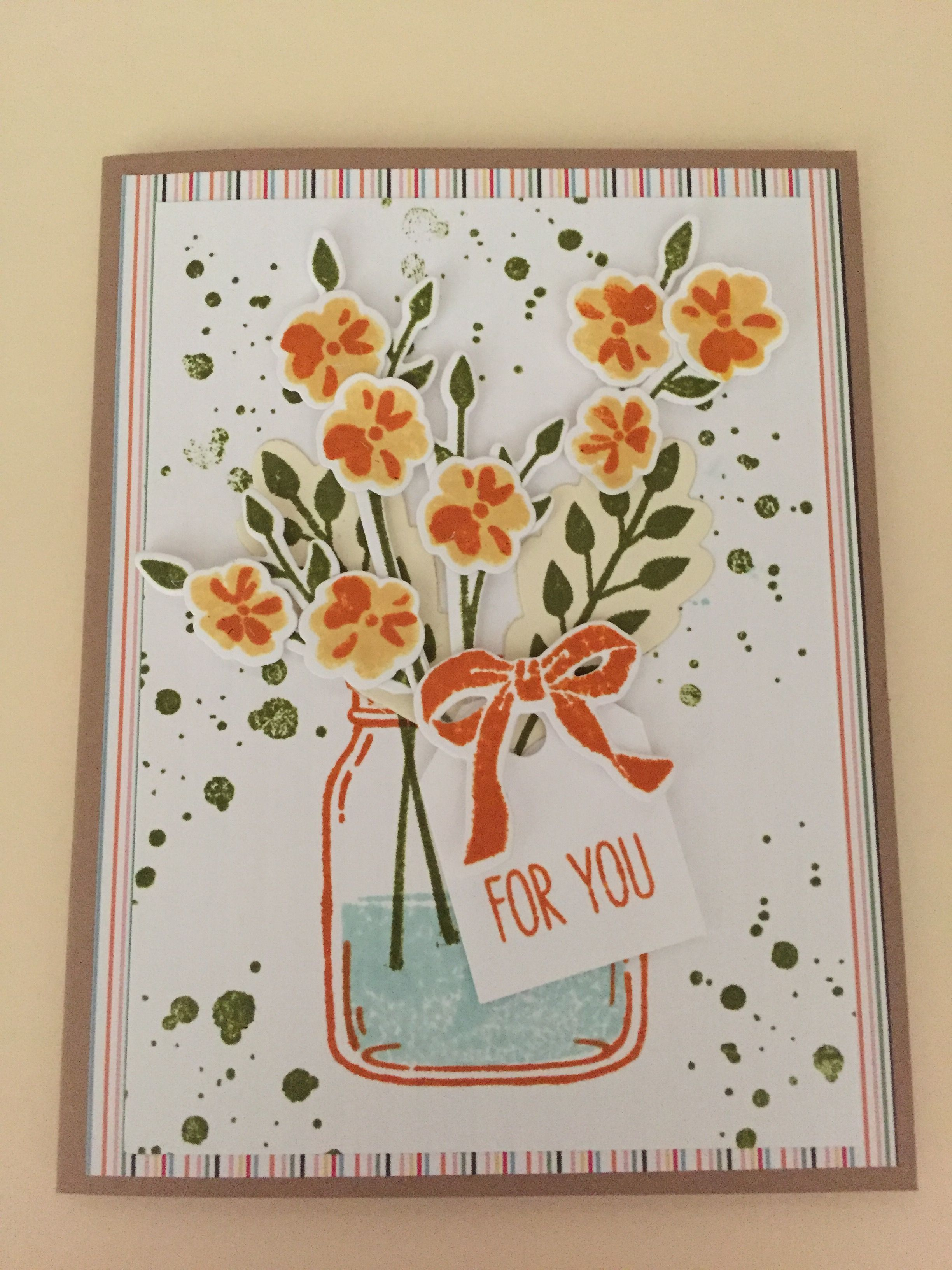 jars of love stampin up  for you 2107  stampin up cards