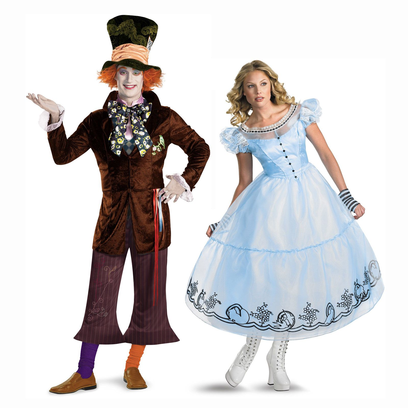Alice in Wonderland & Mad Hatter couples costume from ...