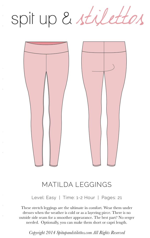 Matilda Legging | costura | Pinterest | Costura, Patrones y Bordado