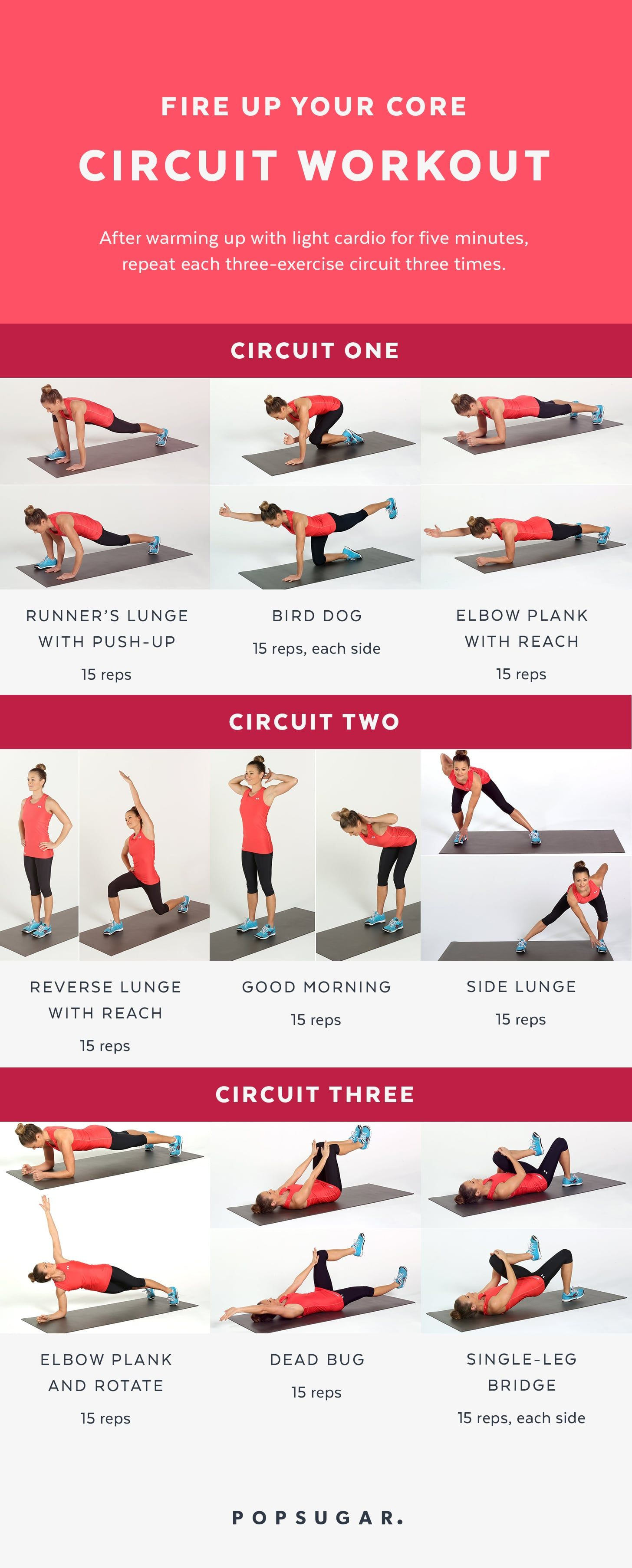 Fire Up Your Core Circuit Workout Exercise