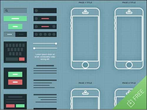 20 great psd mockups for app designers app wireframefree - Free Wireframe Mockup