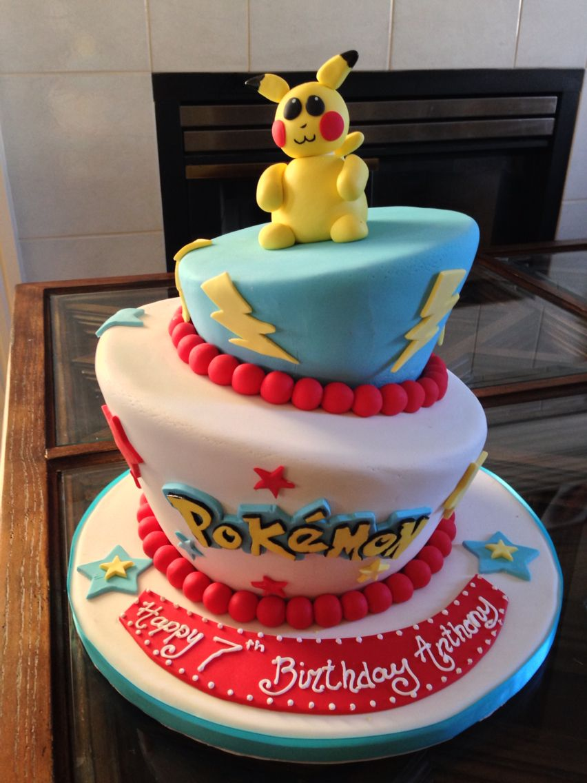 Pokemon Birthday Cake Dianas DreamCakes Andys Birthday Surprise