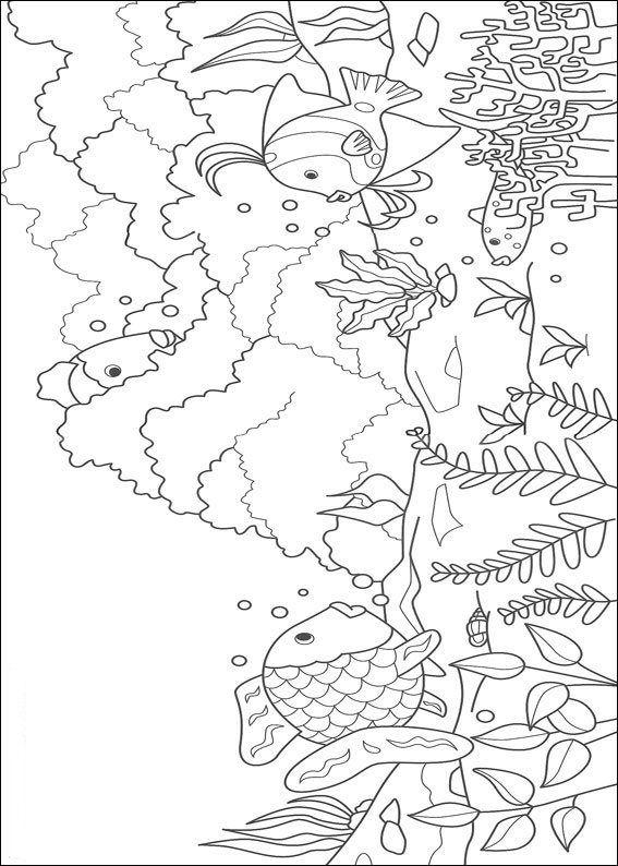 kleurplaat Mooiste vis van de zee | Aqua embroidery | Pinterest ...