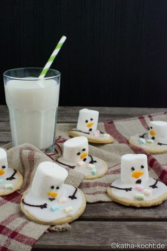 Photo of Christmas Cookies – Melting Snowman Cookies – Katha-cooks!