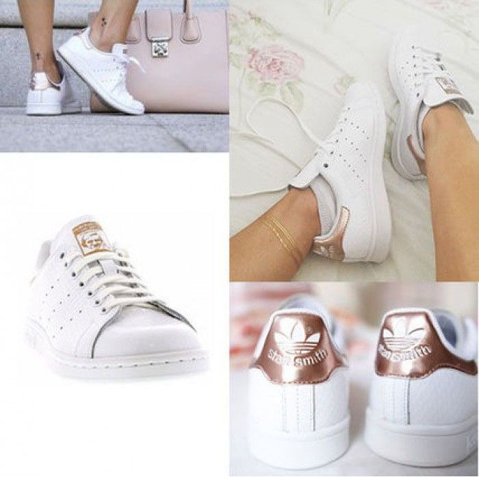 4e12ea7d9c660 The Most Popular Adidas Stan Smith Rose Gold White Shoes for lady ...
