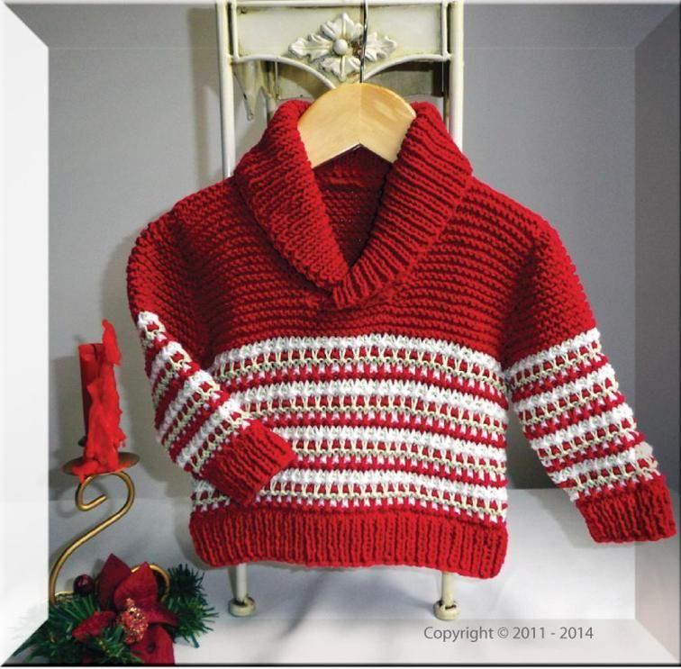 Baby Childs Christmas Sweater Knitting Patterns Baby Children