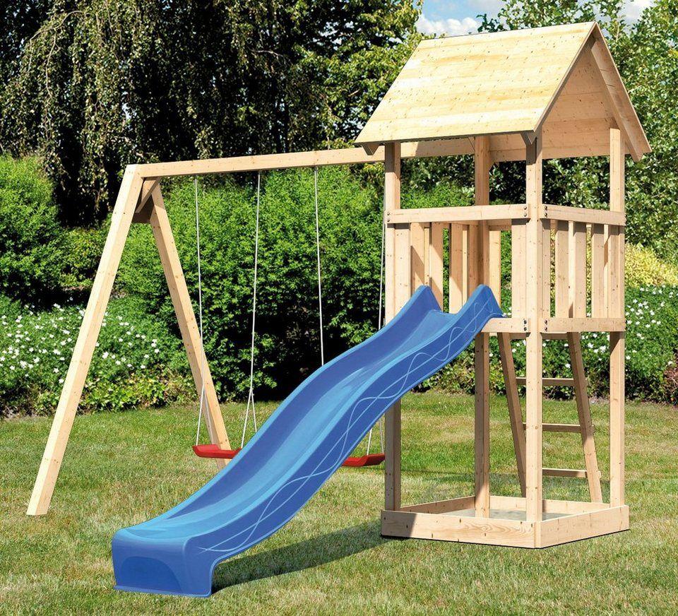 Abuki Spielturm Rosie C Bxtxh 382x185x291 Cm Otto In 2021 Spielturm Doppelschaukel Spielturm Mit Rutsche