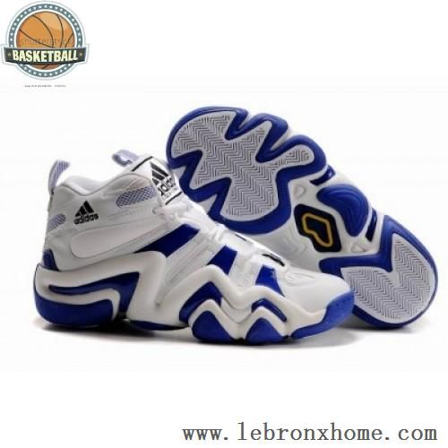 47012e90aea6 Adidas Crazy 8 Kobe Bryant Shoes White Blue Shoes